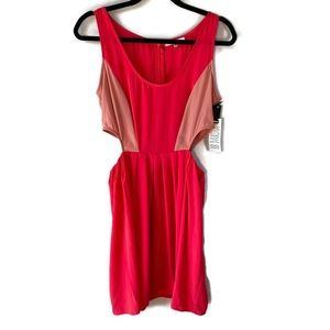 BB Dakota Ripley Cutout Red Pink Dress NWT 8